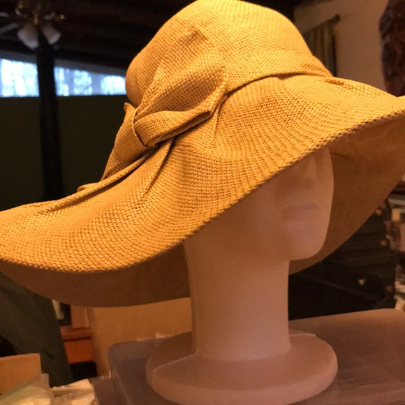 25a1f26d215ac2 Accessories | Womens Nwt Beige Floppy Hat Springsummer Wear | Poshmark